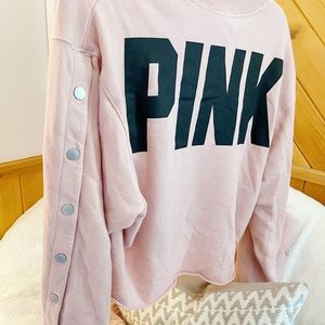 More PINK! ✨ Pink Button Sleeve Sweater